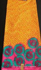 Tela Impresión De Cera colorido africanos (Ankara) Para Algodón, tela del vestido. (6 metros)