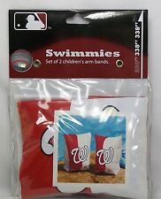 MLB Washington Nationals Red & White Swimmies Set Of 2 Inflatible Kids Arm Bands