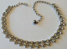 VINTAGE BOGOFF CLEAR RHINESTONE NECKLACE