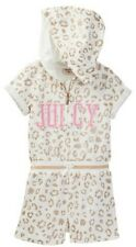 "JUICY COUTURE BABY GIRL LEOPARD PRINT ""JUICY"" HOODED TERRY ROMPER. SZ 24M"