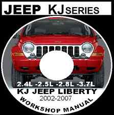 JEEP CHEROKEE JEEP LIBERTY KJ 2002-2007 2.4L 2.5L 2.8L 3.7L Workshop Repair CD