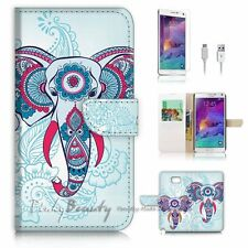 Samsung Galaxy Note 5 Flip Wallet Case Cover P2557 India Elephant