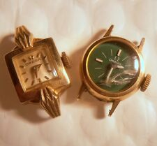 Lot Vintage 2 Omega Lady Wristwatches