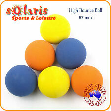 6pk High Bounce Rubber Balls 57mm Mixed Colors Hollow Rubber Pet Dog Ball