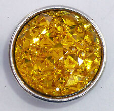 Snap It Button Charm Fit Snaps Style Jewelry (Yellow)   **We Combine Shipping**