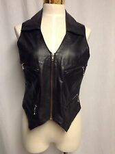 WOMENS EASY RIDERS BLACK GENUINE LEATHER VEST