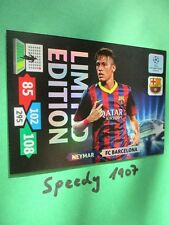 Champions League Neymar Barcelona 13 14  limited edition Panini Adrenalyn