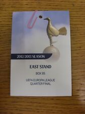 04/04/2013 Ticket: Tottenham Hotspur v Basel [Europa League Quarter Final] [East