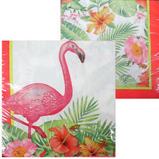 HAWAIIAN LUAU FLAMINGO LUNCH NAPKINS (16) ~ Birthday Party Supplies Luncheon