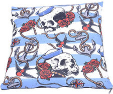 Liquor Brand NAUTICAL SKULL Sailor Anchor Pillow KISSENBEZUG Rockabilly