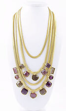 KENNETH COLE New York 'Modern Violet' Stone Gold-Tone Snake Chain Necklace $145