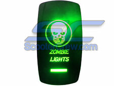 UTV Skull Zombie Lights Rocker Switch Green Led On Off Toggle Square Dune Sand