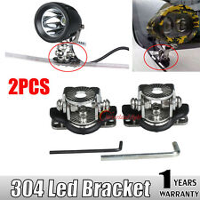2x Mount Bracket Clamp Holder fit Led Work Light bar Offroad 304 Stainless Steel