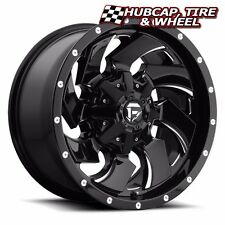 "FUEL OFFROAD D574 CLEAVER GLOSS BLACK MILLED 20""x9 CUSTOM WHEEL RIM (ONE WHEEL)"