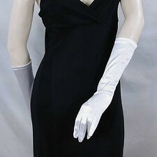 "Below the Elbow Gloves 15"" Long Satin Stretch for Evening, Bridal, Prom - G170"