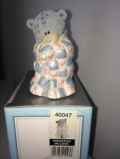 "LARGE 8.5cm 3.5"" HIGH BOXED ME TO YOU FIGURINE TATTY TEDDY BEAR~ WRAPPED IN LOVE"