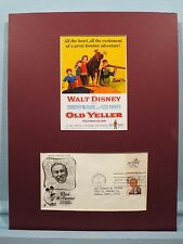 Walt Disney's - Old Yeller and the Walt Disney First Day Cover of his own stamp