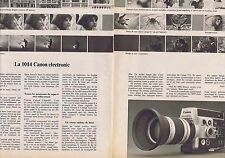 PUBLICITE ADVERTISING 114 1974 la 1014 CANON électronic (2 pages)