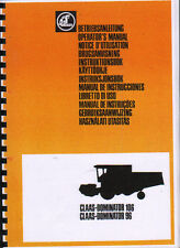 Claas Dominator 106 and 96 Combine Operator Manual