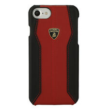 LAMBORGHINI HURACAN LEATHER IPHONE 7 BACK TYPE CASE COVER RED