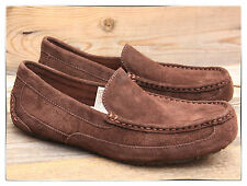 UGG Australia Mens Alder Espresso Chocolate Mocassins Loafers US 10 UK 9 NEW!