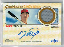 2017 Topps Heritage Mike Trout Clubhouse Collection Jersey Auto #1/25