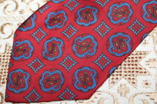 Ralph Lauren Polo red paisley silk handmade tie - Ditsy Vintage