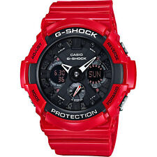 CASIO G-SHOCK ANA-DIGITAL XL RED/BLACK ALUMINUM BEZEL LIMITED EDITION GA201RD-4A