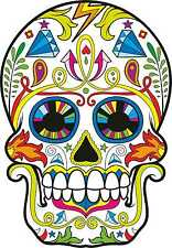 Sugar Skulls Vinyl Car Exterior 2 x Stickers Decals Mexican Day of the Dead