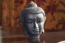 """Zen Asian garden or home decor Buddha head sculpture statue figurine 6"""" tall"""