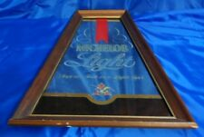 "Vtg MICHELOB LIGHT BEER SIGN MIRROR ""Superior Taste in a Light Beer"""