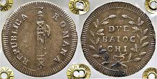 pcc1670_4) ROMA - Repubblica Romana (1798-1799) - 2 Baiocchi SD Sigle G H