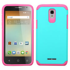 ASMYNA Teal Green/Hot Pink Astronoot Phone case ALCATEL 5017 OneTouch ELEVATE