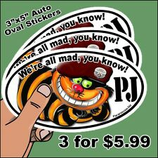 """Sold in sets of 3 for $5.99 - Pararescue """"PJ"""" European Auto Oval Bumper Stickers"""