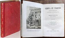 VERTUS ET TALENTS, CONTES HISTORIQUES d'Eugénie FOA, gravures BOCQUIN c.1880