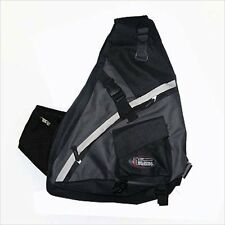 Black Messenger Hip Sling BACKPACK Gym Travel Pocket School gym travel 301