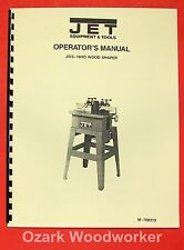 JET/Asian JWS-18HO Wood Shaper Operator's & Parts Manual 0379
