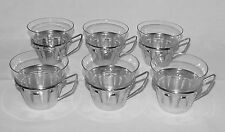 SET OF SIX Mid-Century Wolff (Germany) Silver Plated Cup Holders/Glass Inserts!!