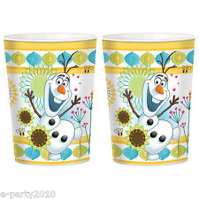 FROZEN FEVER REUSABLE KEEPSAKE CUPS (2) ~ Disney Birthday Party Supplies Favors