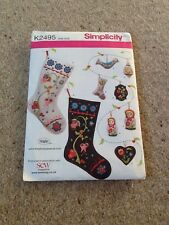Simplicity Sewing Pattern K2495 - Christmas Stockings and Decorations. New/Uncut