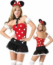 Women's Lingerie Mini Skirt Cute Sexy Mouse Polka Dot Valentine's Day Costume