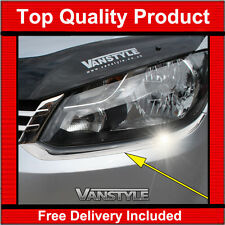 VW CADDY & MAXI CHROME HEADLIGHT SURROUND TRIM 10-15 QUALITY STAINLESS HEADLAMP