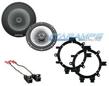 "KENWOOD 6.5"" 2 WAY CAR TRUCK STEREO FRONT DOOR SPEAKERS WITH MOUNTING BRACKETS"