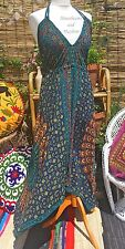 NEW MANDALA DRESS UK SIZE 14 16 BOHO HIPPIE FESTIVAL YOGA BEACH BAG TOP SKIRT