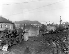 7th Armored Division antitank gun covers approach-Vielsalm, Belgium-1944