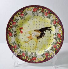 """American Atelier PETITE PROVENCE 8-1/8"""" (Rooster D) Salad/Desert Plate MINT"""