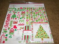 Scrapbooking Crafts 12X12 Paper Pack Doodlebug Christmas Tree Eve Presents Candy
