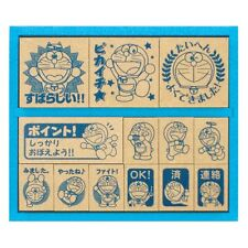 Doraemon Wood Rubber Stamp set SDH-034 From Japan