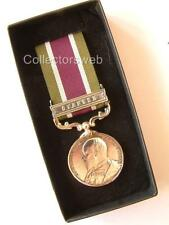 BRITISH ARMY INDIAN TROOPS TIBET MEDAL GYANTSE CLASP BAR EDWARD VII 1903 4 BOXED