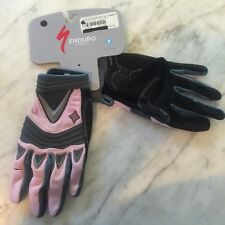 New Women's Specialized Enduro Long Finger Glove Pink/Grey Large